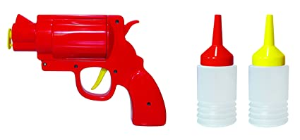 Pusher Sauce Gun dispensador para Salsas, Rojo