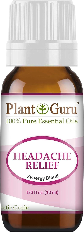Headache Relief Essential Oil Blend (Migraine) 10 ml 100% Pure, Undiluted, Therapeutic Grade. (Blend of: Lavender Dalmatia, Peppermint, Wintergreen, Frankincense, Marjoram, Rosemary)