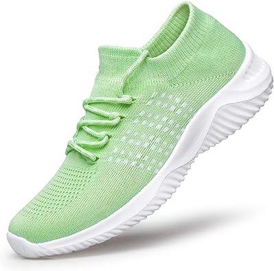 [MOXOCO] ランニングシューズ レディース スニーカー スポーツシューズ ウォーキング ジョギング 運動靴 ジムトレーニング 超軽量 カジュアル  クッション性