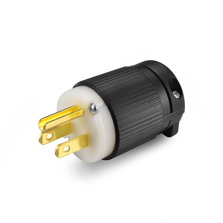 Aweking Ul Listed Nema 5 15p Plug Connector Male 15a 15 Amp Ac