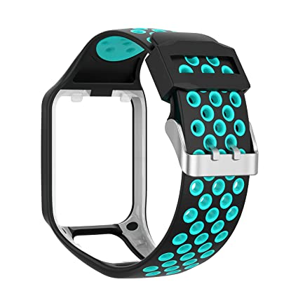 Compatible Tomtom Spark 3 / Runner 2 3 / Golfer 2 Watch Band Replacmenr Silicone Straps Wristband Sport Band for Tomtom Runner 2 3 and Tomtom Spark 3 ...