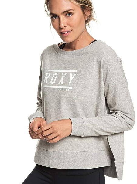 Roxy - Sudadera para Yoga - Mujer - XS - Gris: Amazon.es ...