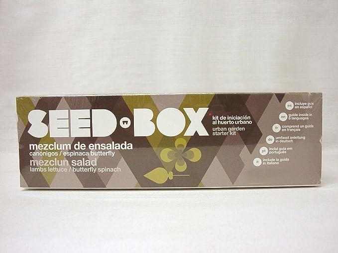 SEED BOX KIT HUERTO URBANO MEZCLUM ENSALADA CANONIGOS ESPINACAS ...