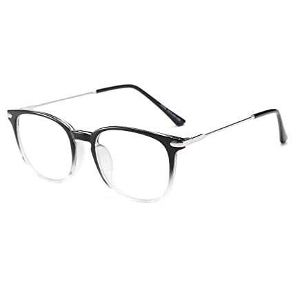 c479062558 Image Unavailable. Image not available for. Color  Simvey Square Computer  Blue Light Blocking Glasses TR90 Frame ...