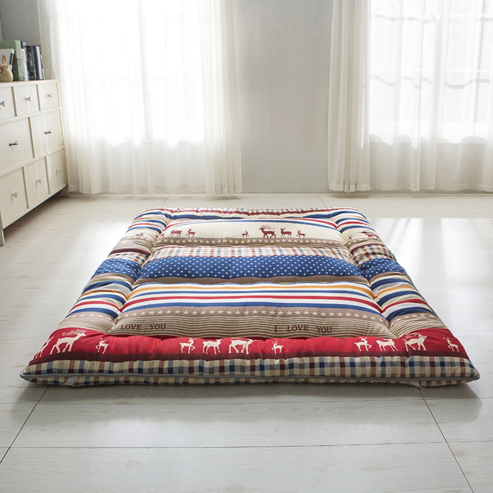 Bedroom mattress tatami mat bed pad grinding fabric fold-Able anti-Skidding 10cm thick [Individual] [Double] For livingroom student dormitory tents-A 100x200cm(39x79inch) by matelas Tatami (Image #1)