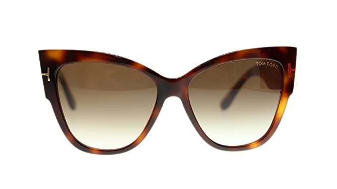 089af4c8b7e Amazon.com  Tom Ford FT0371 53F Anoushka Blonde Havana Gradient Brown  Womens Sunglasses 57mm  Clothing