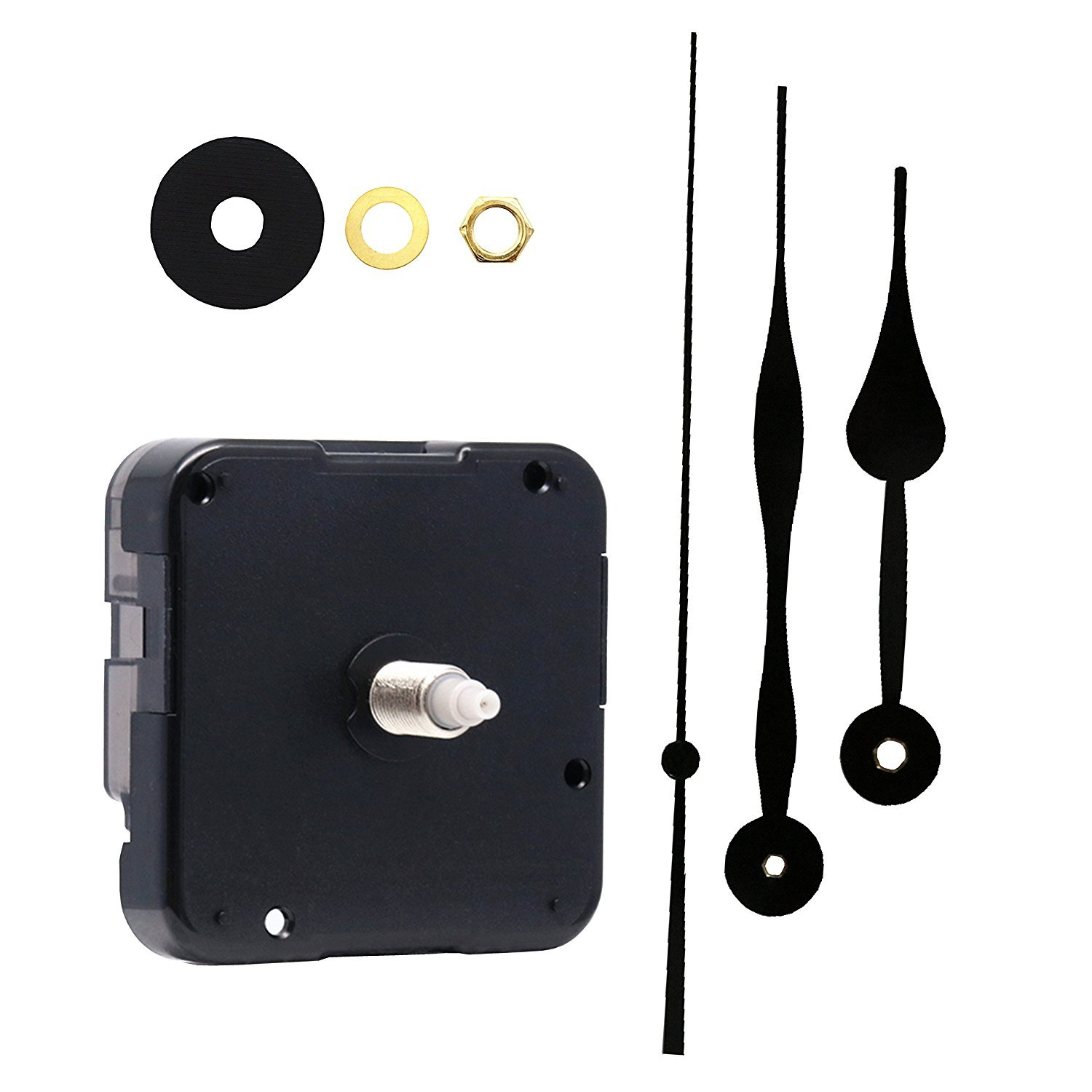 Youngtown 12888 Movement for Clock Repair Replacement Kit Sweep Silent Movement Clock DIY,15/32 Inch Maximum Dial Thickness, 51/64 Inch Total Shaft Length