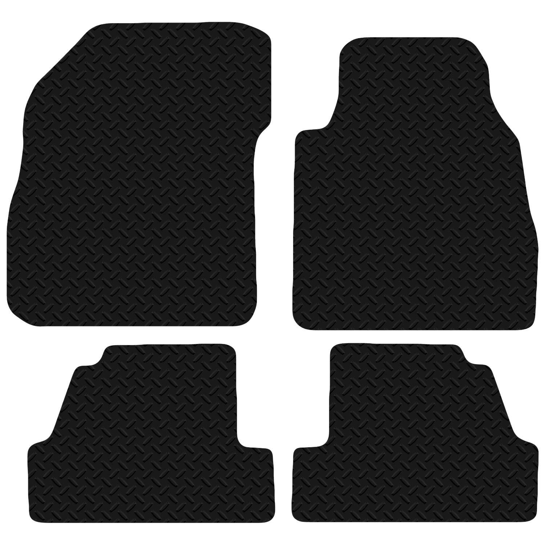 Mokka 2012 - Onwards Black Floor Rubber Tailored Car Mats 3mm 4pc Set Carsio