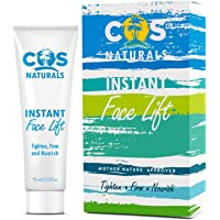 COS Naturals INSTANT FACE LIFT Natural Organic Ingredients Anti Aging Firming Tightening Cream Remove Wrinkles Fine Lines Eye Puffiness Dark Circles Bags 15mL