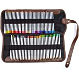 72 Assorted Marco Raffine Drawing Art Colored Pencils with Roll UP Washable Canvas Pencil Bag Pouch Wrap Set for Artist Sketching , Blending, and Layering, Yookat