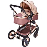 VEVOR Baby Strollers 2 in 1 Portable Infant Baby Carriage Travel System High View Baby Pram Anti Shock Springs Pushchair Pram