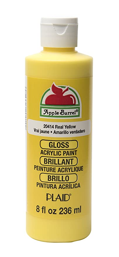 Apple Barrel Gloss Acrylic Paint In Assorted Colors 8 Oz J20414 Gloss Real Yellow