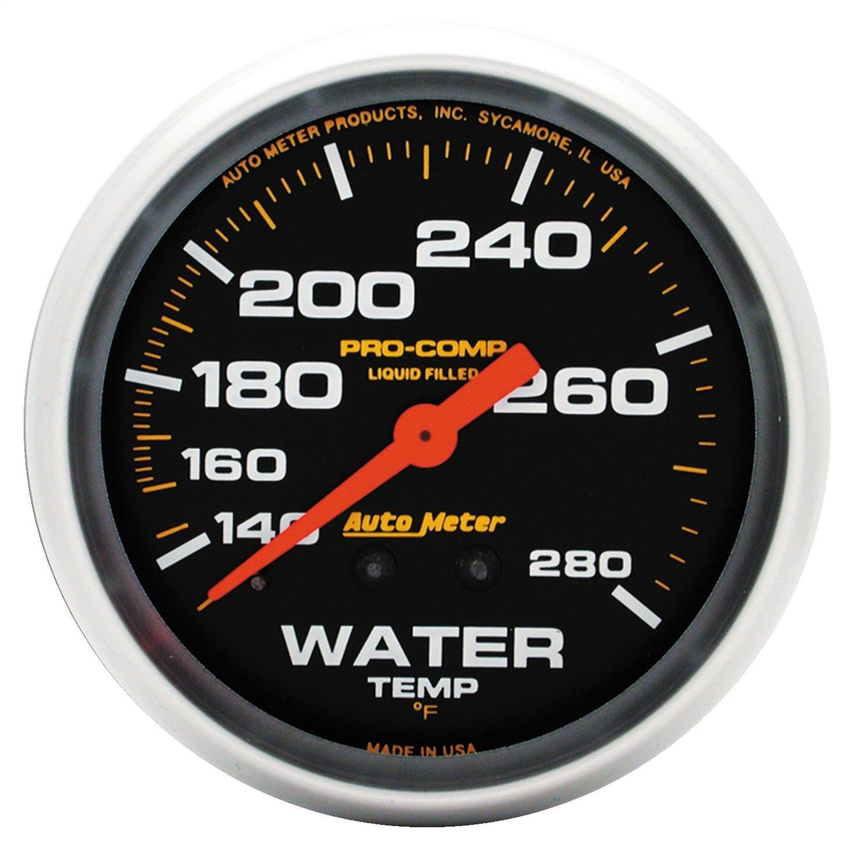 Auto Meter 5431 Pro-Comp 2-5/8'' Mechanical Water Temperature Gauge (140-280 Degree F, 66.7mm)