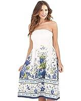 Martildo Fashion, Ladies 3 in 1 Cotton Holiday Vacation Dress