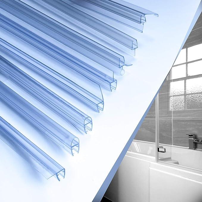 Dichtung f/ür 6mm UK12 Wasserablaufprofil Wasserabweisprofil 8mm Glast/ür St/ärke Duschkabinen Duschabdichtung Duschwand Ersatzteile f/ür Duschkabine Transparent DQ-PP Duschdichtung 50cm