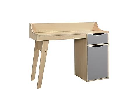 Birlea kingston studio scrivania legno faggio e grigio 43 x 119 x