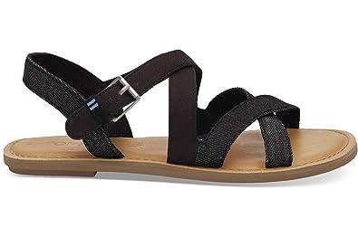 4ee54fa2049 TOMS Women's, Sicily Sandals Black 5.5 M