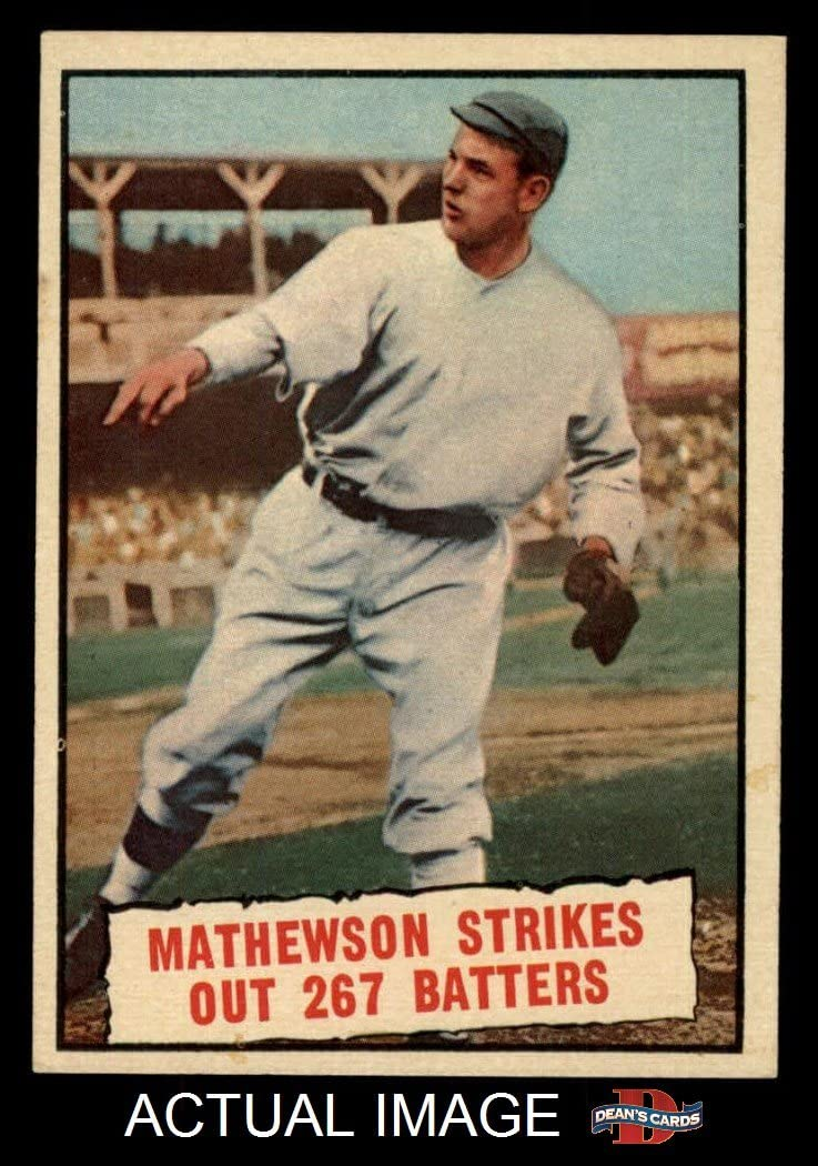 B00FC54W8O 1961 Topps # 408 Baseball Thrills Christy Mathewson San Francisco Giants (Baseball Card) Dean's Cards 7 - NM Giants 71FFmNVl5rL