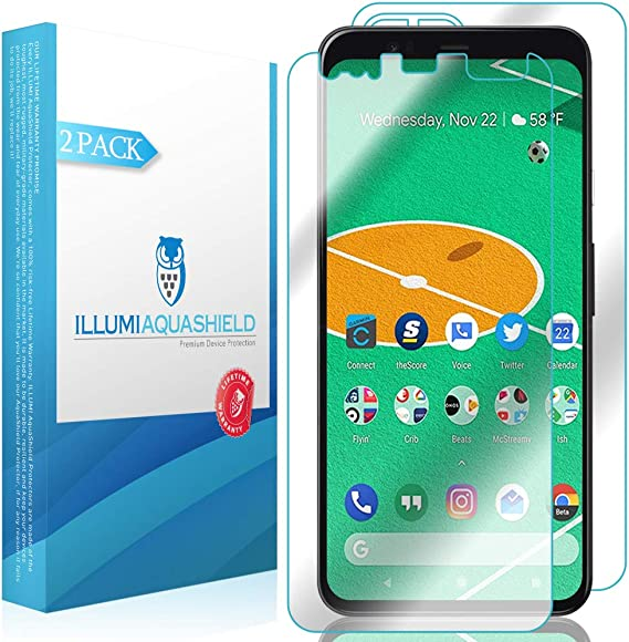 2-Pack S8+ ILLUMI AquaShield Front Back Protector Compatible with Galaxy S8 Plus HD Clear Screen Protector No-Bubble TPU Film