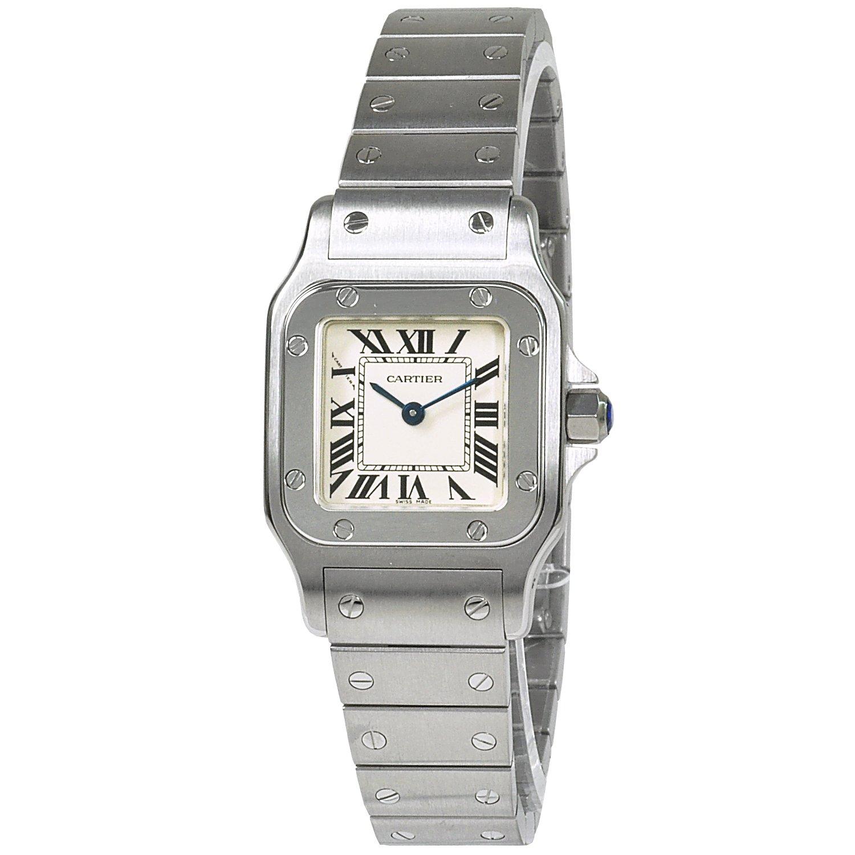 (カルティエ) CARTIER 腕時計 サントスガルベSM W20056D6 ホワイト レディース [並行輸入品] B00H8M9VMG