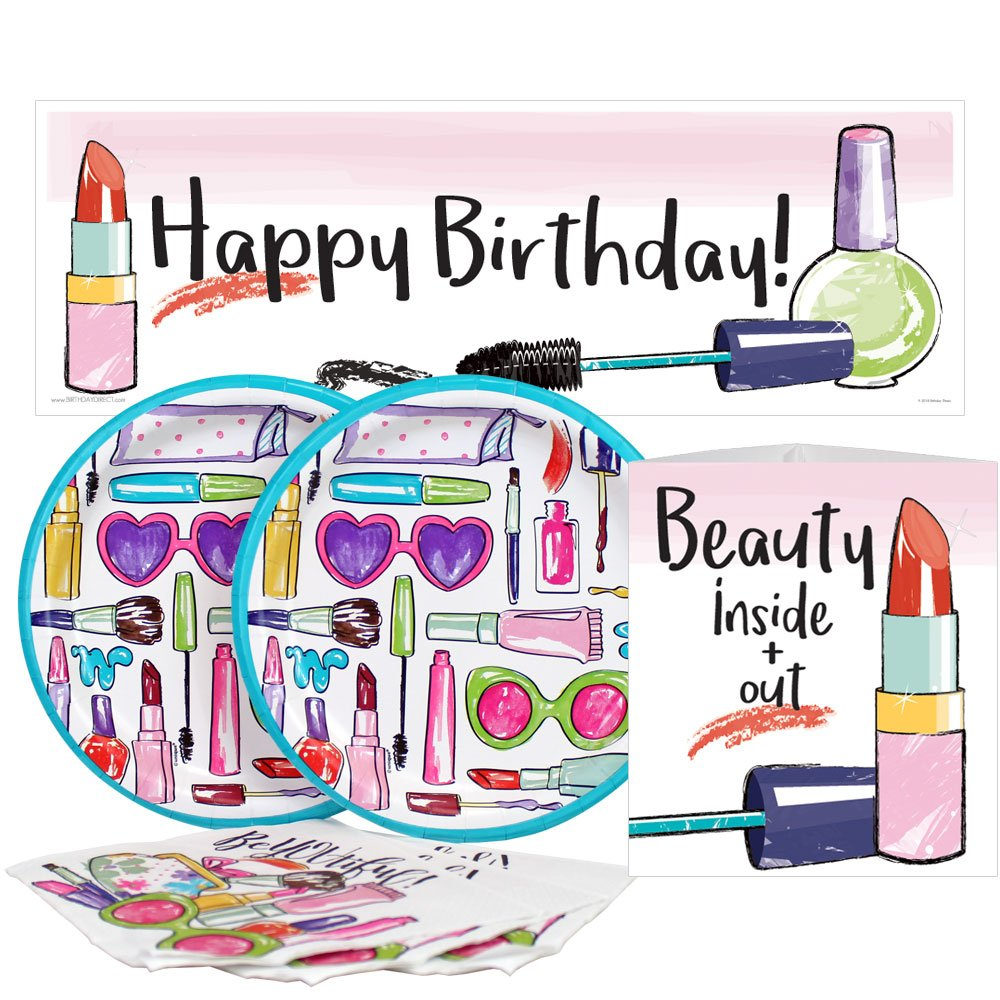 Birthday Direct Spa Glam Party Value Party Kit for Up to 16 Guests