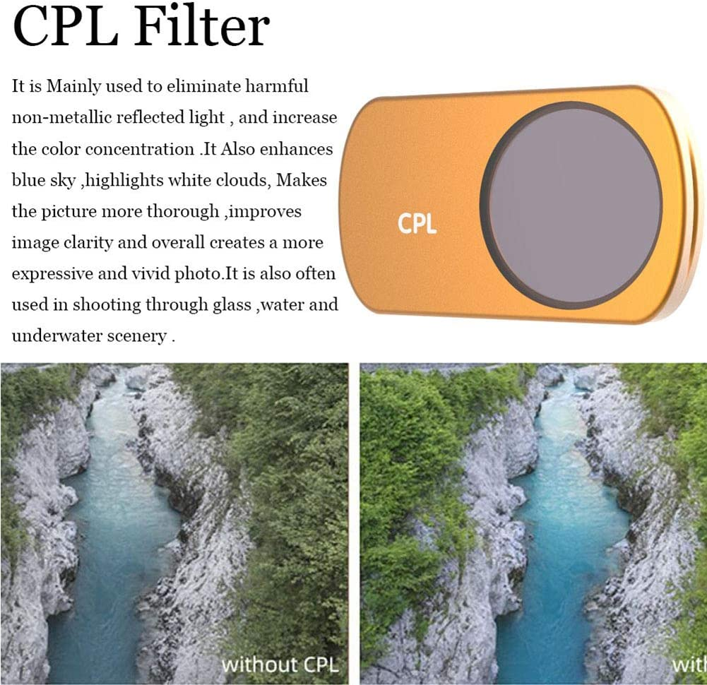 Ultraviolet Protection Multi Coated Lens Ultra Slim Optical Glass Fosheng UV-CPL-ND8-ND16-ND32-STAR Filters for DJI Mavic Mini