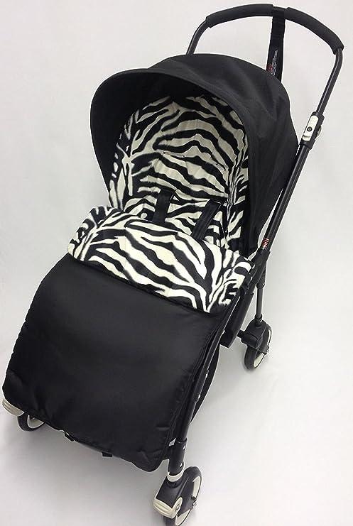 Animal Print saco/Cosy Toes Compatible con Bugaboo Bee Plus Zebra ...