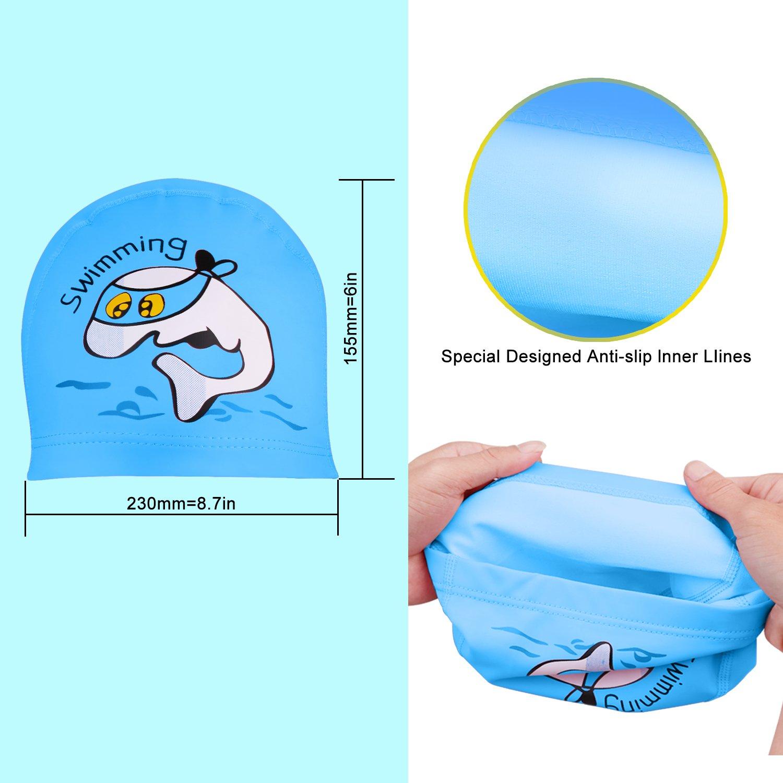 5ea11ff4a1a4 Amazon.com   JH-LI Swim Cap and Swim Goggles Set for Kids ...
