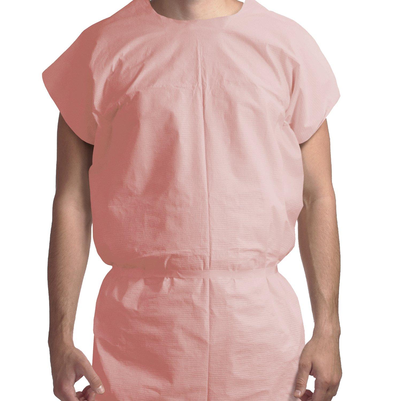 Dynarex Exam Gown 3 ply T/P/T Universal (Mauve) - 50/Cs