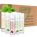 8 Pack Lip Balm Gift Set by Naturistick. Assorted