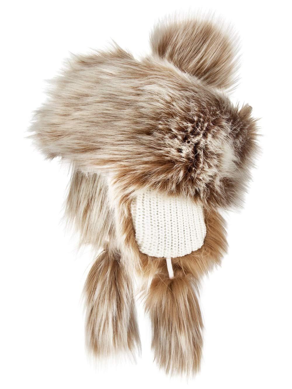 e092740d9a2 Futrzane Faux Fox Fur Winter Trapper Hat Women Russian Style Pompom product  image