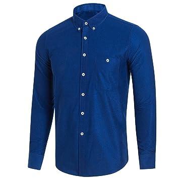 Hombre camisa manga larga Otoño,Sonnena ❤ Blusa de manga larga casual de los
