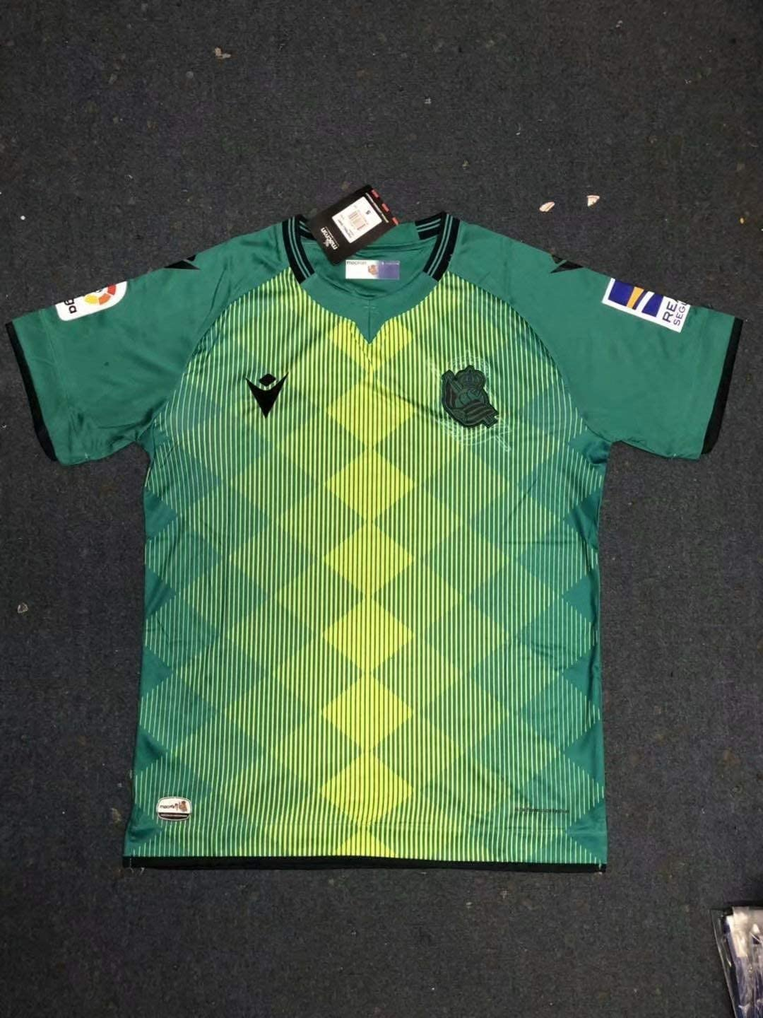 BROOK Real Sociedad Away Soccer Jersey 2019-2020 (Green, S ...