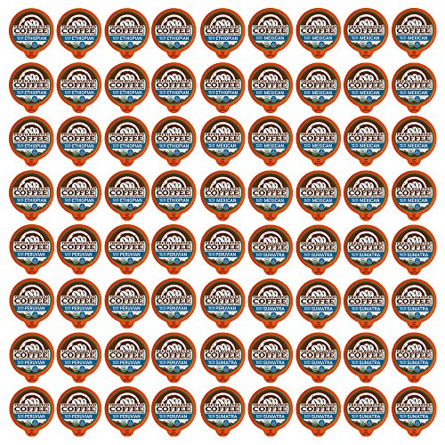 USDA Organic Weaken Processed Decaf Coffee Pod Variety Pack, 72 Capsules for Keurig K-Cup Brewers, Fresh Roasted Coffee LLC. (72 Count)