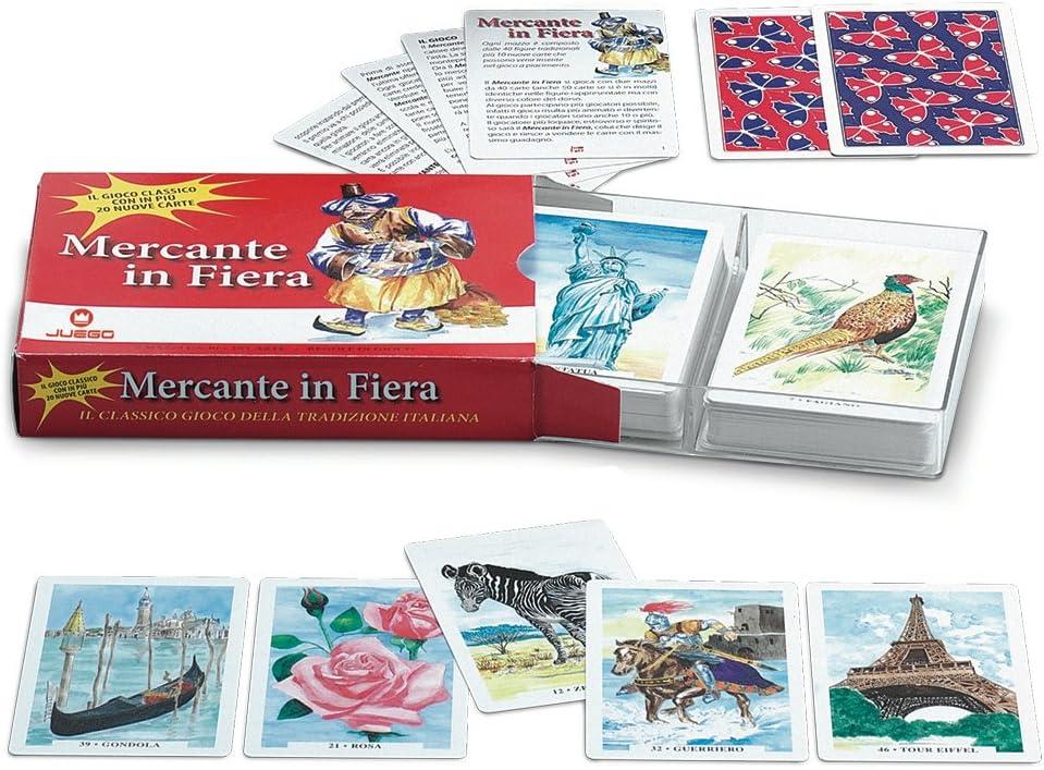 Juego - Juego de cartas Mercante in Fiera I Juego de sociedad (ITA Toys JU90105): Amazon.es: Juguetes y juegos
