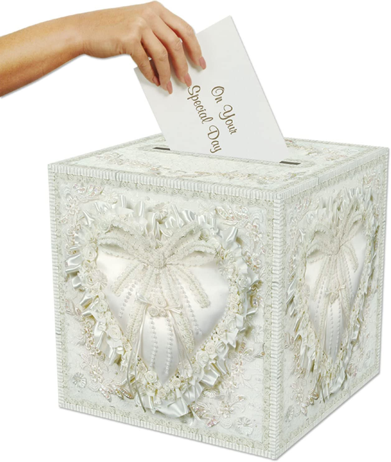 "Beistle 50360 Card Box, 12"" x 12"",White"