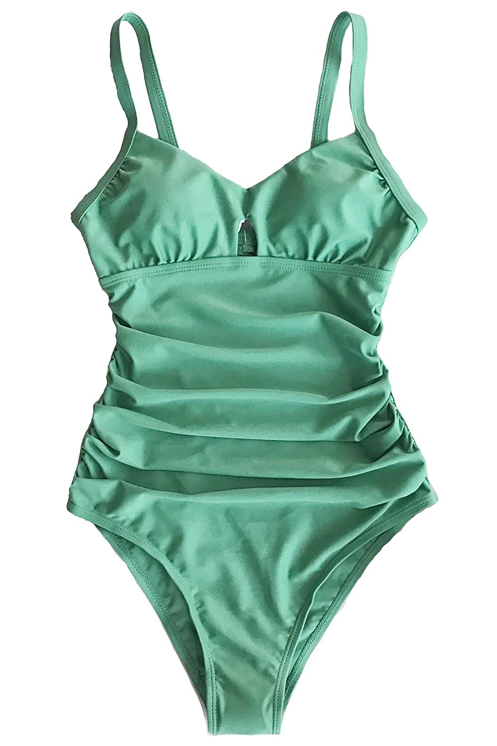 8ffce2355140c CUPSHE Women's Green Grass Solid One-Piece Swimsuit Backless Beach Swimear  at Amazon Women's Clothing store:
