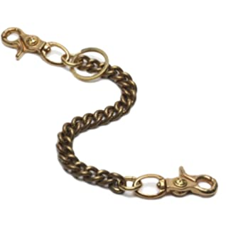 Amazon.com: Latón macizo oro cadena de portafolios hombre ...