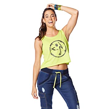 Zumba Fitness® Be The Boss Loose - Camiseta sin Mangas para Mujer, Color Verde