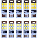 HUAHA 10pcs USB Mini LED Lights 6 Keychain Lights Lamp with Smart Touch Electrodeless Dimming Switch for Laptop,Emergency Sec