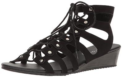 33857651ad92 Coolway Women s Caldas Wedge Sandal Black 37 EU 5.5-6 ...