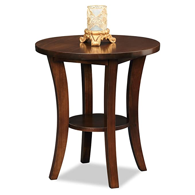 Amazon.com: Leick muebles Boa mesa auxiliar redonda, Madera ...