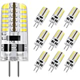 DiCUNO G4 LED Light Bulb, 10-Pack, 3 Watt, Non-dimmable, 230 Lumen, Daylight White 6000K, 12 Volt, 20-25W Equivalent, T3…