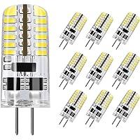DiCUNO G4 LED Light Bulb, 10-Pack, 3 Watt, Non-dimmable, 230 Lumen, Daylight White 6000K, 12 Volt, 20-25W Equivalent, T3 Base Halogen Bulb