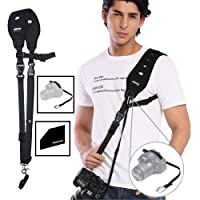 Prowithlin Camera Strap with Safety Tether Mounting Plate for DSLR SLR Camera (Canon Nikon Sony Olympus Pentax, etc.)