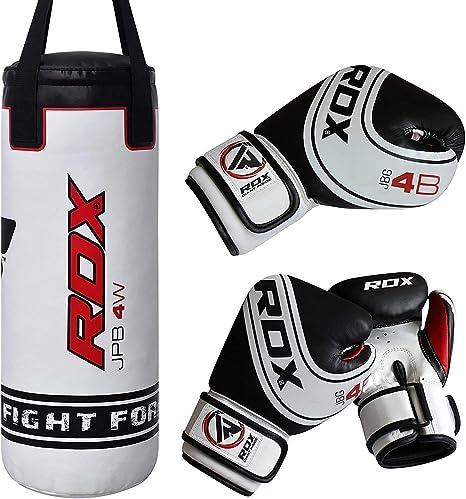 RDX Punch Bag Heavy Boxing Set Training Gloves Chain Bracket Mitts Thai Pads UK