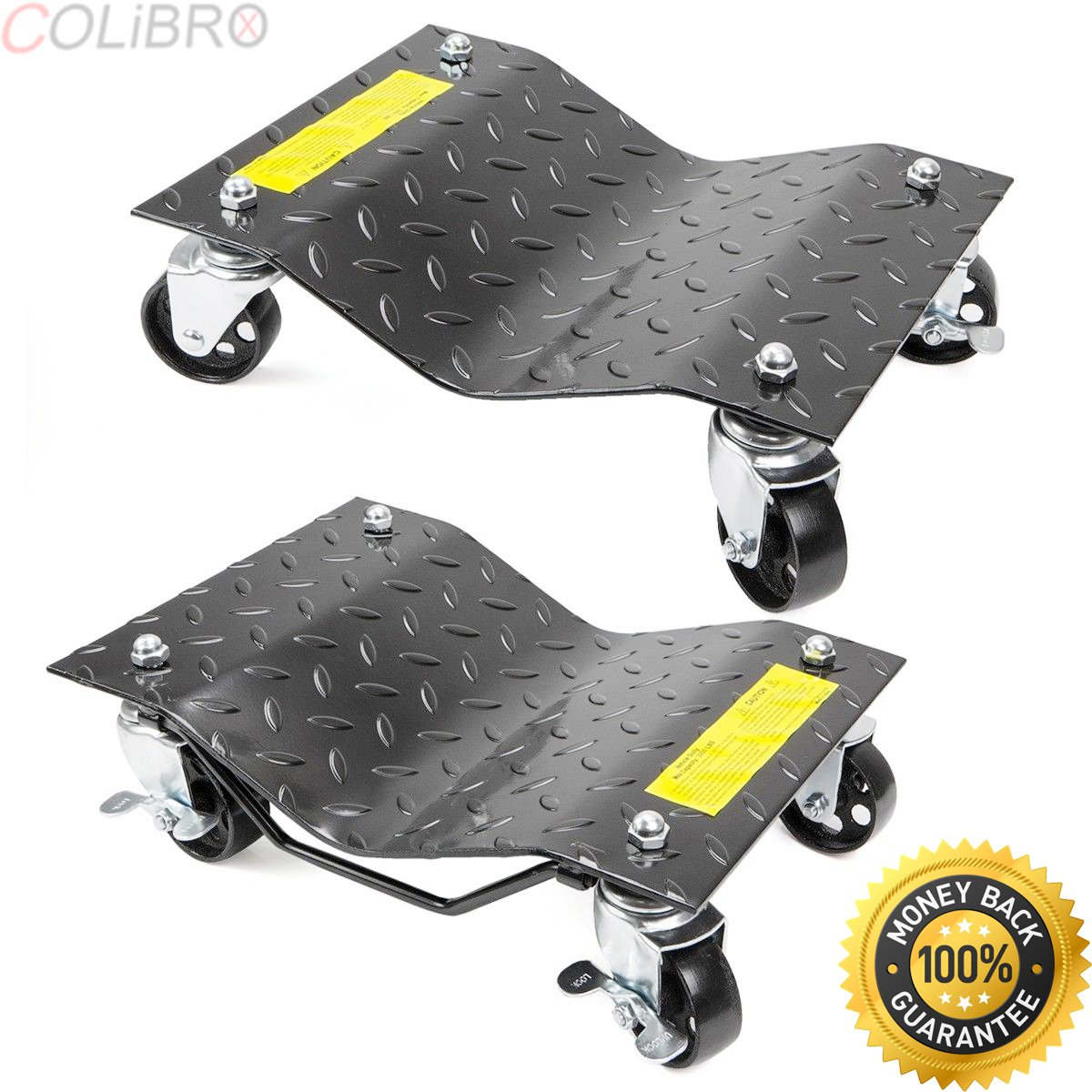 COLIBROX--New 1pair Auto Dolly Car Dolly Wheel Tire 12''x16'' Skate 3000lb Repair Slide. car wheel dolly harbor freight. vehicle positioning wheel dolly. best car dollies home depot on amazon.