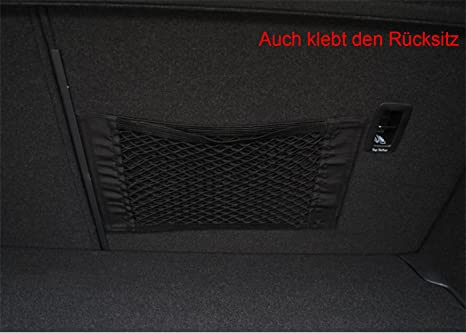 Sandafi Rücksitz Organizer Netz Auto Kofferraum Netz Mit Klebeband 2 Stücke Auto