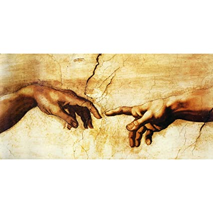 d9fb4e90b451 Amazon.com  Meishe Art The Creation of Adam (fragment) by ...