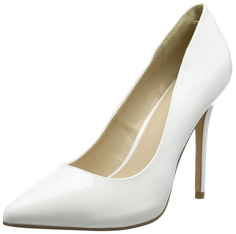 Pleaser Amuse-20, Zapatos de Tacón con Punta Cerrada para Mujer 40 EU|Blanco (Weiss (Wht Pat))